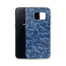 Load image into Gallery viewer, Blue Tiger Camo Samsung Cases