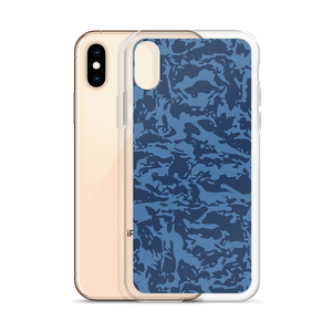 Blue Tiger Camo Iphone Cases