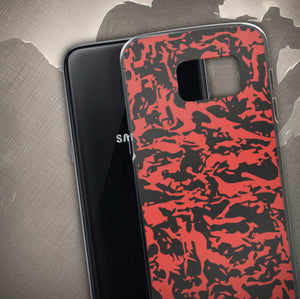 Red Tiger Camo Samsung Cases