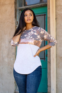 COWHIDE & ROSE GOLD COLOR BLOCK TOP