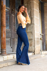 HIGH WAIST DENIM BELLS