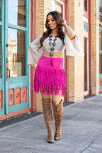 Load image into Gallery viewer, FRINGE SUEDE SKIRT