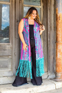 JADE TOOLED SEQUIN DUSTER