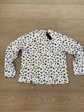 Load image into Gallery viewer, Monrow Heart Leopard Cut Off Crew Sweatshirt
