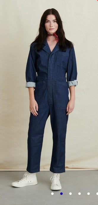 Alex Mill Standard Jumpsuit in Indigo Cotton Twill