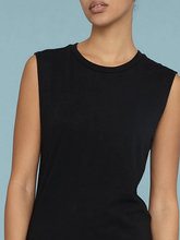 Load image into Gallery viewer, Raquel Allegra Black Jersey Muscle Maxi Dress