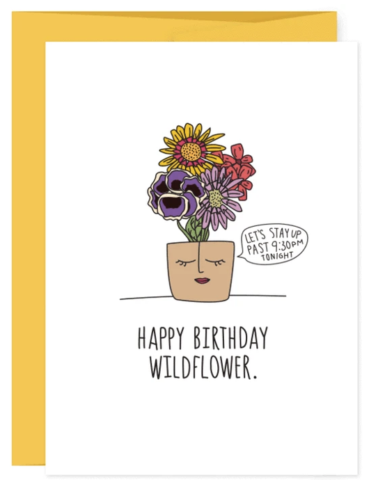 Humdrum Happy Birthday Wildflower Card