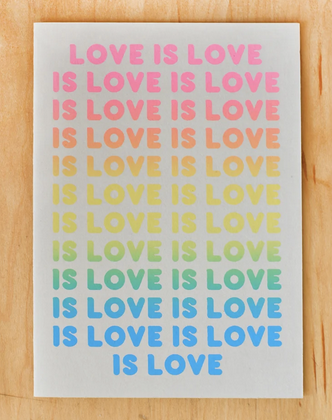 Gold Teeth Love Is Love Card
