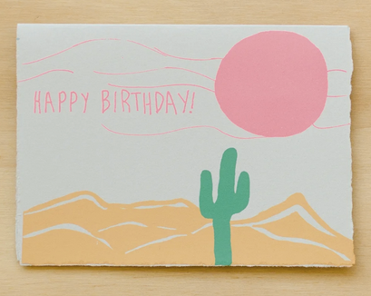 Gold Teeth Happy Birthday Desert Card