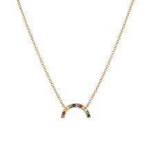 Load image into Gallery viewer, 14K Gold Rainbow Necklace
