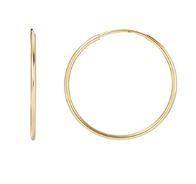 14K Gold Medium Hoop Earrings