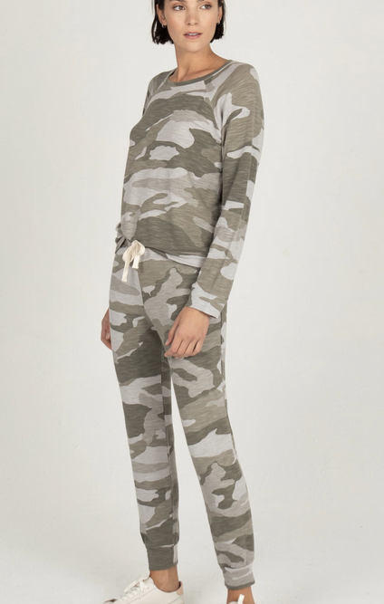 Monrow Supersoft Camo Sweatpant
