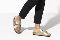 Load image into Gallery viewer, Birkenstock Gold Arizona