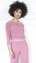 Load image into Gallery viewer, Suzie Kondi Raglan Top-Desert Rose Velour