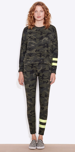 Sundry Camo Stripes Yoga Pant