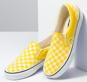 Vans Cyber Yellow Checkboard Slip On