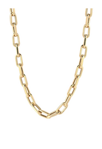 "14K Gold Large Open Link 18"" Chain Necklace"