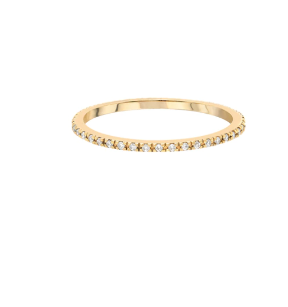 14K Gold Thin Diamond Eternity Band