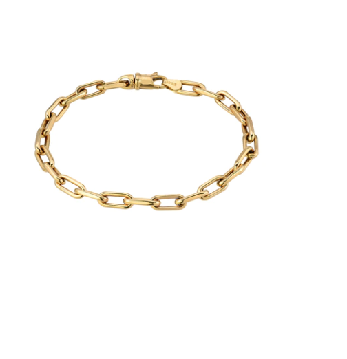 14K Gold Large Open Link Chain Bracelet
