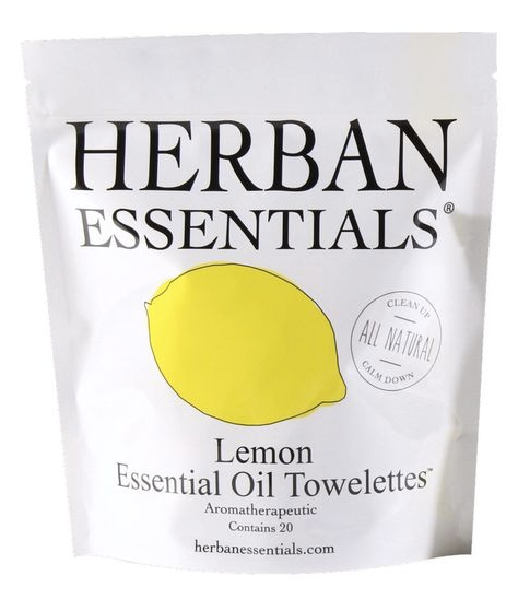 Herban Towelettes- 20 pack Lemon Oil