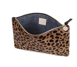 Clare V. Flat Clutch in Leopard