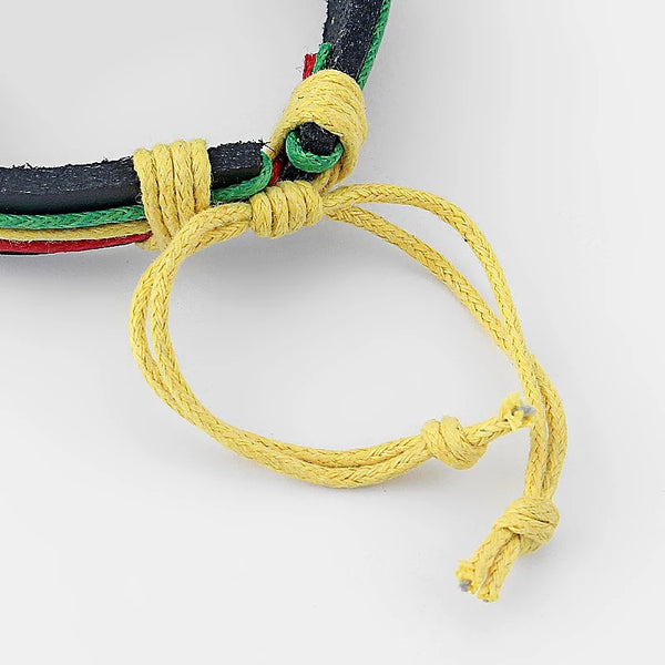 Rasta Marley Multilayer Bracelet Set