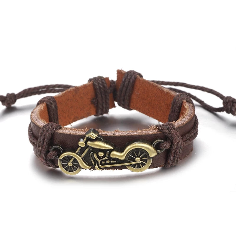 Motorcycle Bracelet - Brown