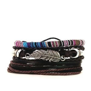 Acadia Feather Bracelet Set