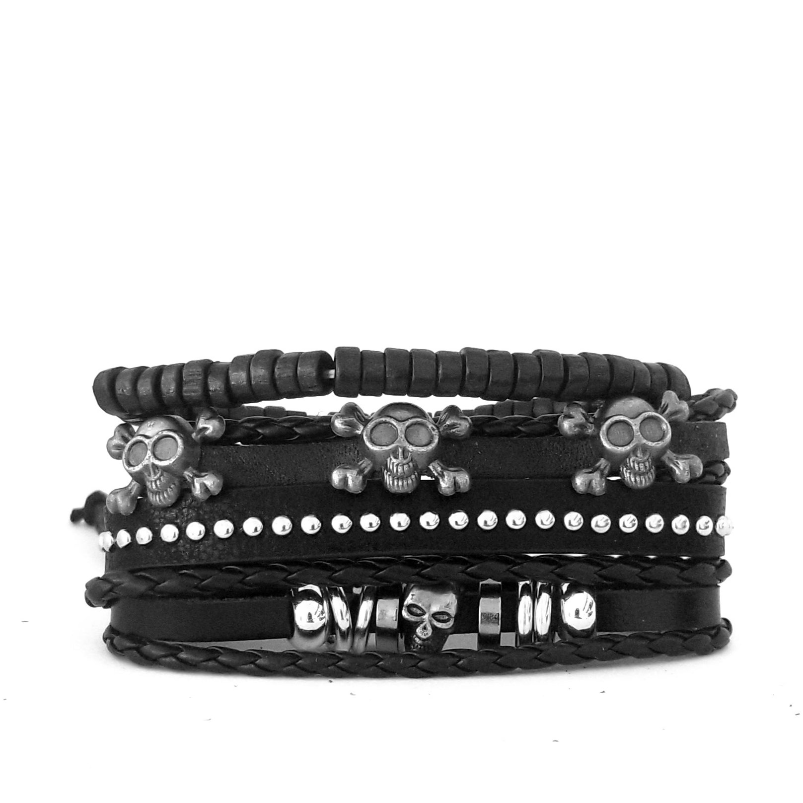 Skull Multilayer Bracelet Set