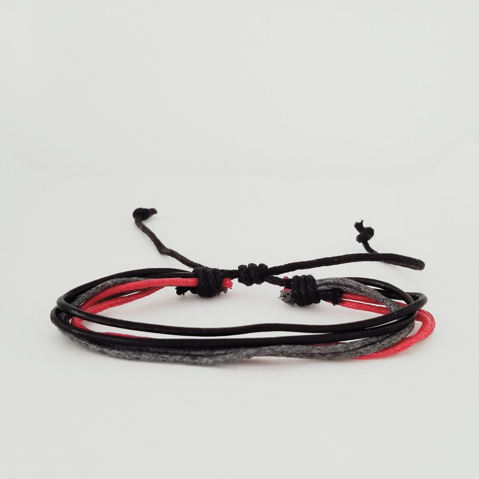 Black/Red/Grey Multi Bracelet