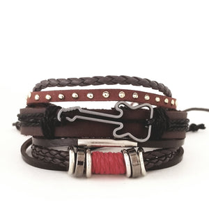 Touch of Red Guitar  Bracelet Set