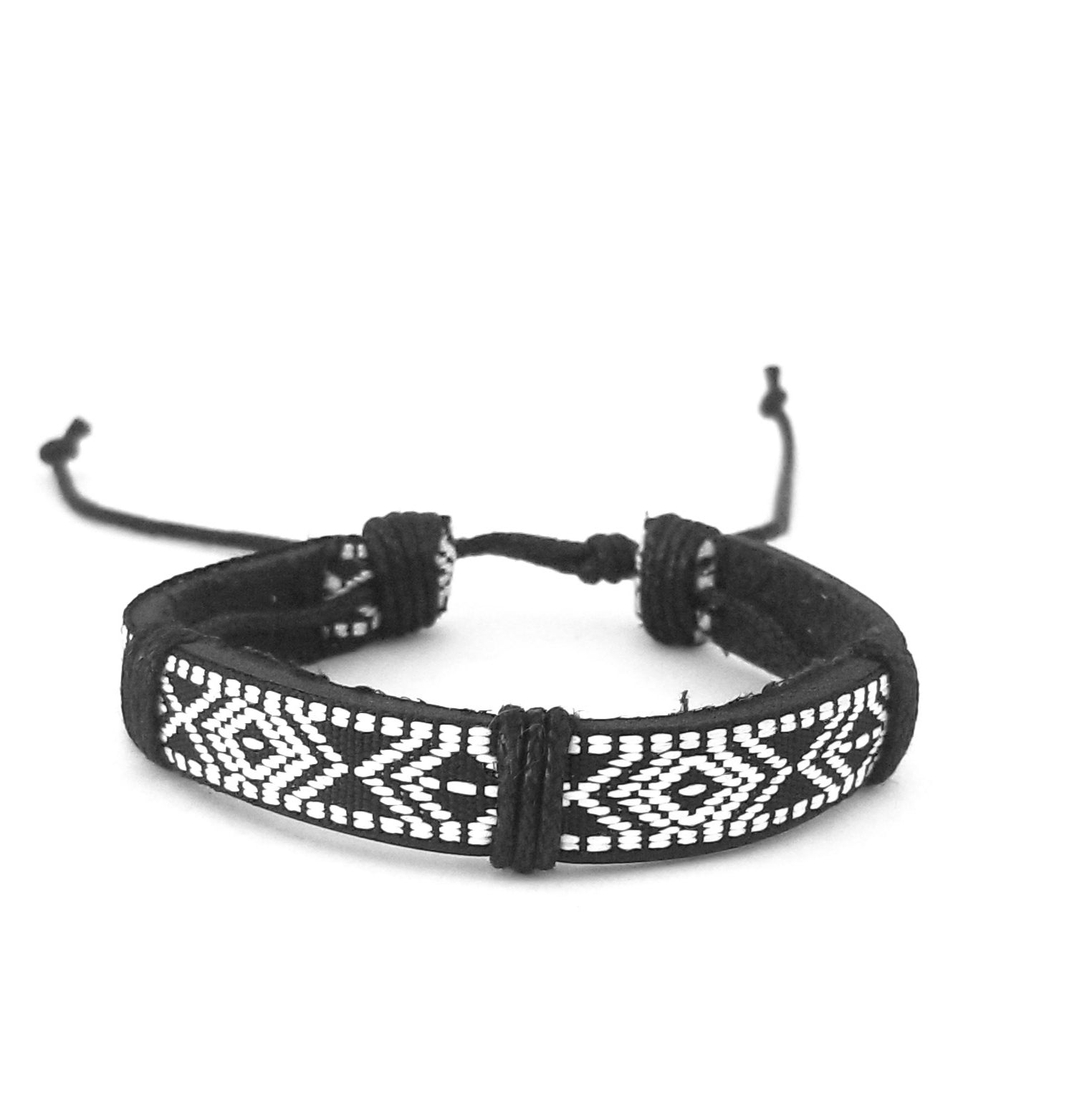 Black & White Patterned Bracelet