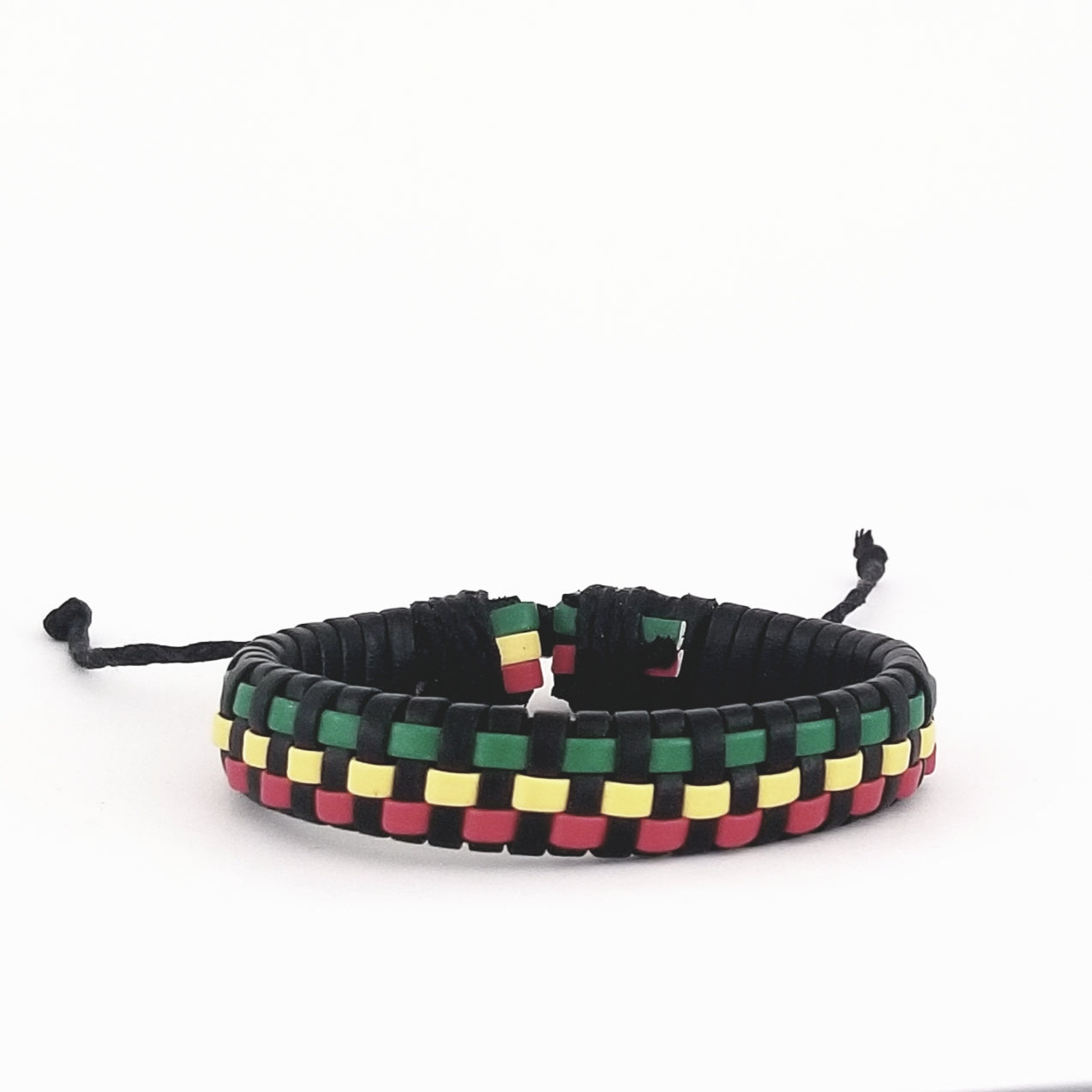 Green/Yellow/Red Checkered Bracelet