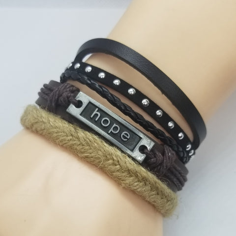 Hope Multilayer Bracelet Set