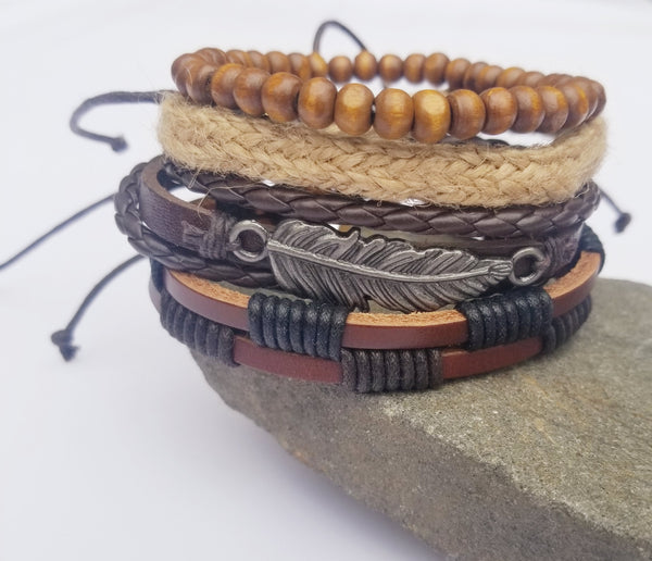 Teton Feather Bracelet Set