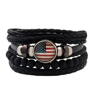 Americana Leather Bracelet Set - Silverado Outpost