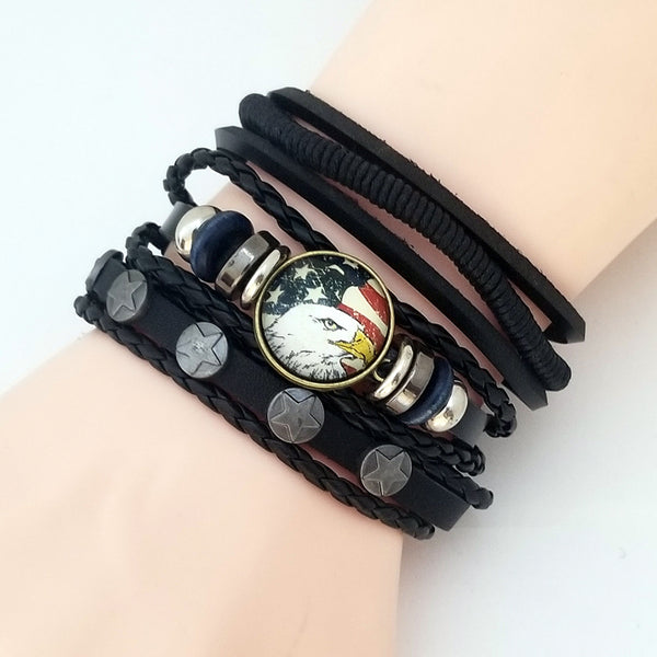 Stars & Eagle Multilayer Bracelet Set - Silverado Outpost