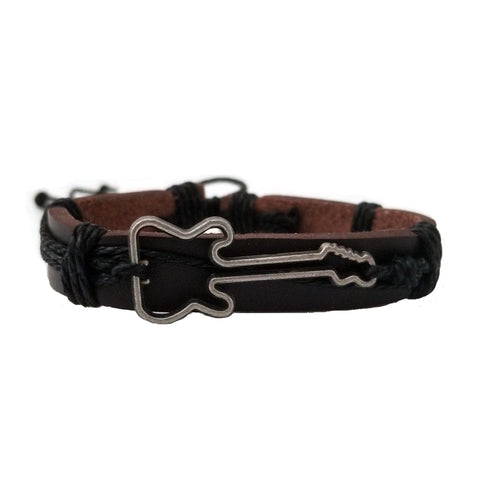 Guitar leather bracelet. Music bracelet