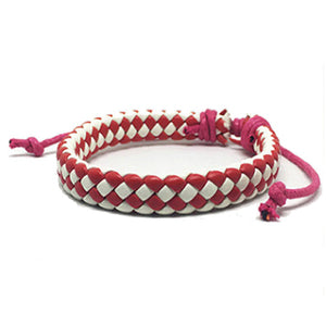Red White Checkered Bracelet