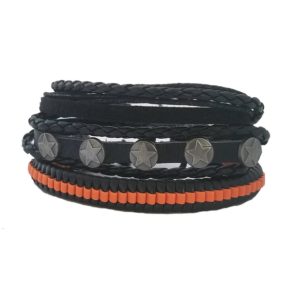 Orange Stars Multilayer Bracelet Set - Silverado Outpost