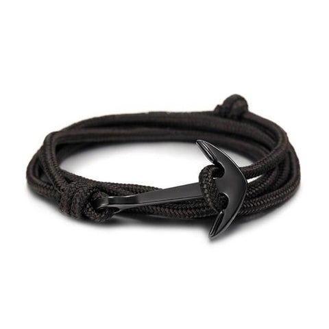 Anchor Survival Rope Bracelet - Black - Silverado Outpost