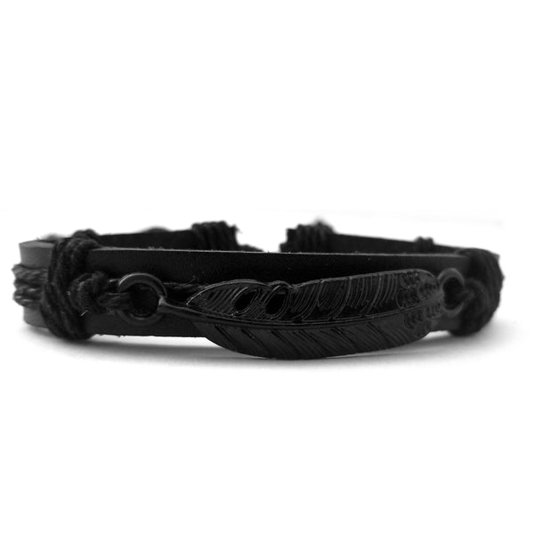 All Black Feather Bracelet