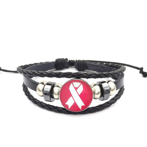Breast Cancer Awareness Bracelet - Pink