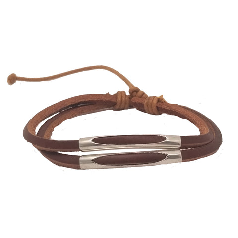 Brown 2-Strands Simple Bracelet