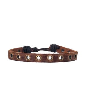 Brown Rivet Bracelet