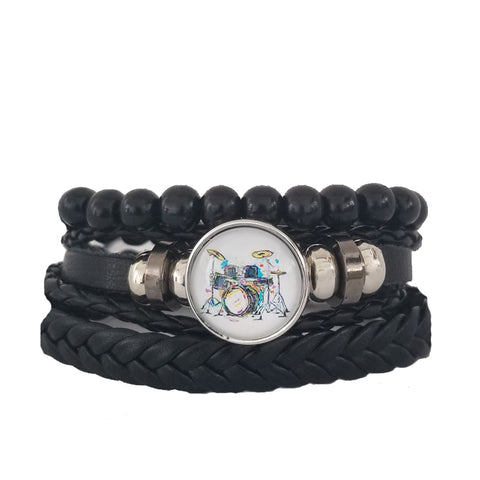 Abstract Drums Multilayer Bracelet Set