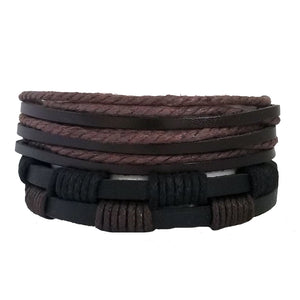 Earthtone Brown Black Bracelet Set - Silverado Outpost