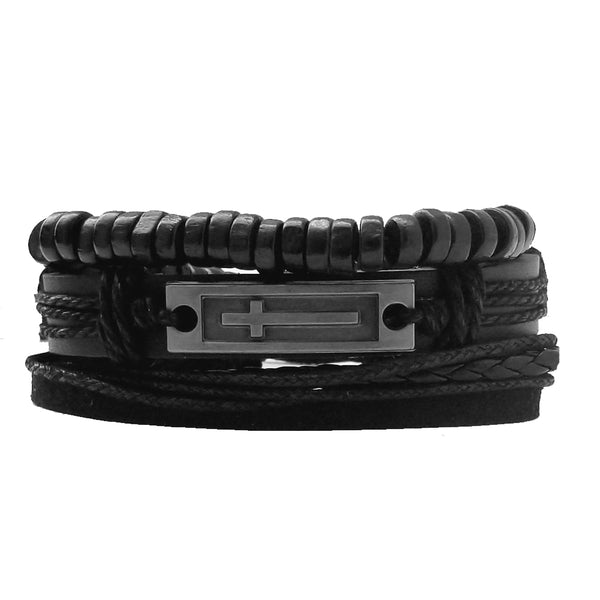 Faith Leather Bracelet Set - Silverado Outpost