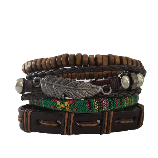 Carlsbad Feather Bracelet Set