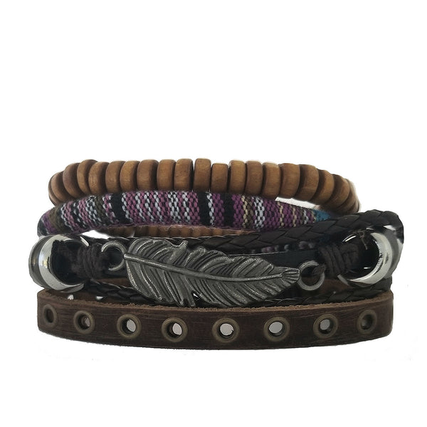 Gunison Feather Bracelet Set